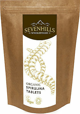 Sevenhills Wholefoods Organic Spirulina Tablets (500mg) | Detox Diet Cleanse