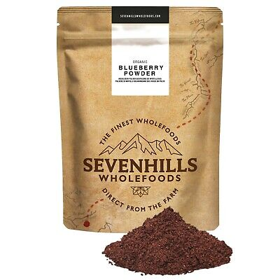 Sevenhills Wholefoods Organic Raw Blueberry Powder & Capsules | Detox, Iron
