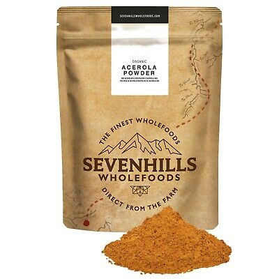 Sevenhills Wholefoods Organic Raw Acerola Powder | Vitamin C