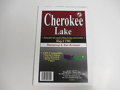 Kingfisher Map,Cherokee Lake, GPS Compatible, etc..