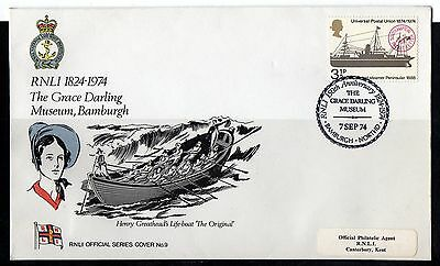 GB = 1974 UK  FDC - RNLI No.9 - The Grace Darling Museum, Bamburgh. Event Cover.