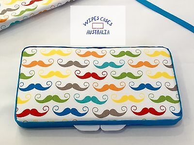Colourful Moustache Baby Wipes Case - Perfect Gift For Baby Shower