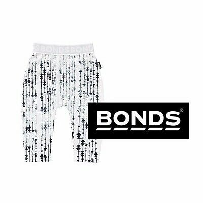 Bonds Baby Stretchies Leggings Pants White Black Green Silver Size 0 1 2