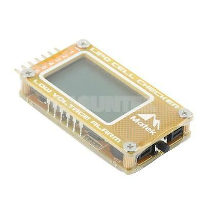 RC Lipo Battery Low Voltage Alarm 2S-6S Buzzer Indicator Checker Tester LCD