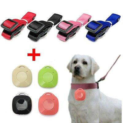 Collier Chien Animaux Nylon + GPS Bluetooth 4.0 Anti-lost Tracker Finder Petit
