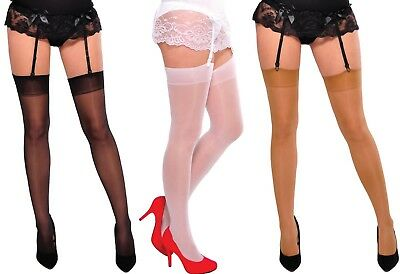 Cher Ladies Suspender Stockings For Garter Belt With Lycra 15 Denier