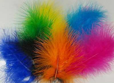 Marabou Feathers Small & Fluffy 20 per Packet Size 10 - 15cm  Easter Colours