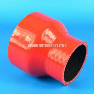 Silicone Hose Straight Reducer Red SELECT SIZE Demon Motorsport (Black Core)