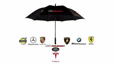 Umbrella Golf Premium Quality Windproof UV Folding Automatic Car Brolly Black