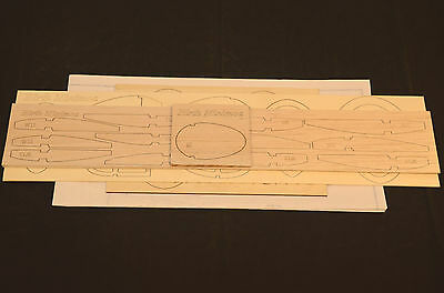 "1/6 Scale HIRTH MINIMOA Laser Cut Short Kit, Plans & Instruction 105""ws  GLIDER"