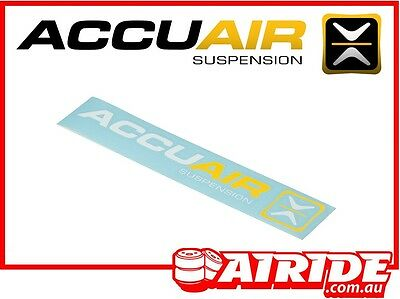 Accuair Yellow And White Sticker Airide Air Ride Suspension