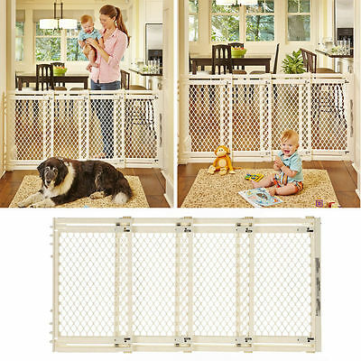 Child Safety Gate Baby Pet Gate Fence Control Extra Wide Doorway