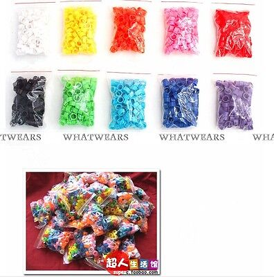 100 x Poultry Leg Bands Bird Pigeon Chick Parrot Rings Multicolor 8mm New WUS