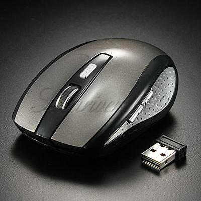 SOURIS Sans Fil Optique 2,4 Ghz USB Recepteur Wireless Mouse Win 7/10 Laptop PC
