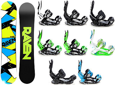 Snowboard Raven Shape Black Rocker + Raven, Pathron, Rage Fastec Bindung - Neu!
