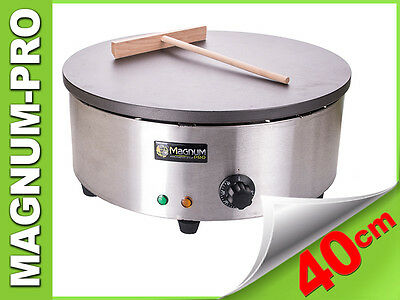 CREPE MAKER ROUND 3000W PANCAKE COMMERCIAL NEW STAINLESS STEEL 40cm