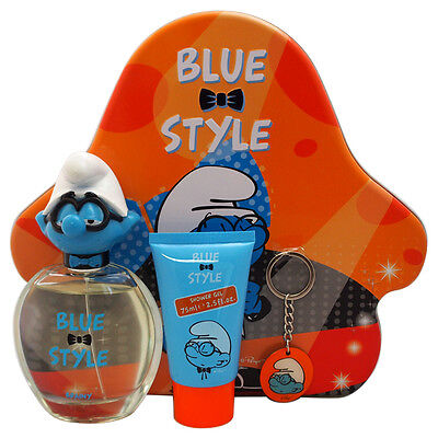 The Smurfs Blue Style Brainy by First American Brands for Kids - 3 Pc Gift