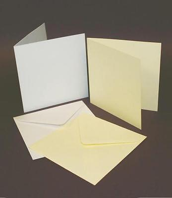 Craft UK, 5x5 Square Card Blanks and envelopes. Pack of 50. Ref 243 / 245