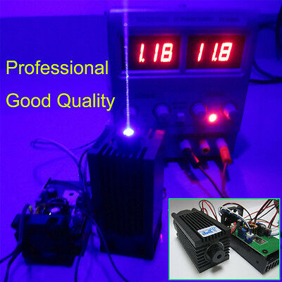 Quality Focusable 445nm 2000mW 2W Blue Laser Module TTL CNC Cutter Engraving