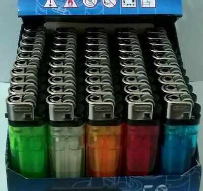 Disposable Adjustable Flame Child Resistant Assorted Colours Lighters - New