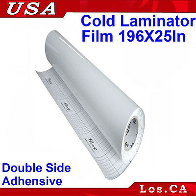 Double Sided Adhesive Pressure 0.69x5Yard Sensitive Laminating Mount Film