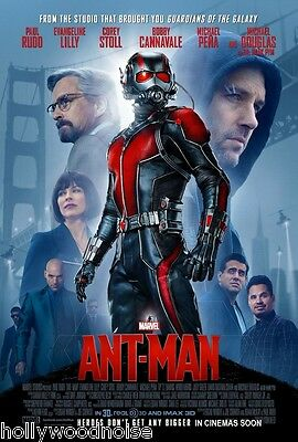 ANT-MAN ORIGINAL MOVIE POSTER DS 2 Sided Theatrical Final Version 27x40 Ho-No