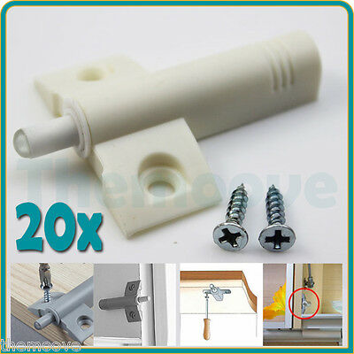 20x Door Kitchen Cabinet Cupboard Quiet Damper Buffer Soft Closer Cushion Close