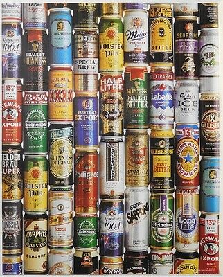 BEERS OF THE WORLD POSTER (50x40cm)  NEW LICENSED ART