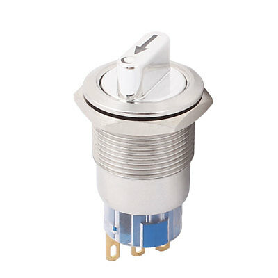 19mm Mounted Thread 3 Pole SPDT 2 Positions Rotary Switch