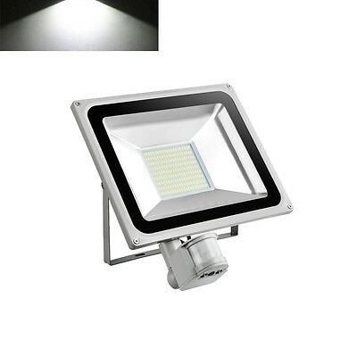 100W Cool White LED PIR Motion Sensor Flood Light Outdoor Security Lamp IP65