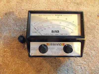 Bird Antenna CB SWR Ham Mate Thruline Watt Meter 10W Model 10043