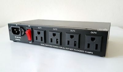 IP9258TP 4 Port Built-In Web AC Power Switch Controller Remote Reboot Auto PING