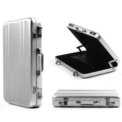 New Upscale Mini Aluminum Safe Suitcase Briefcase Business Card Holder Box Case