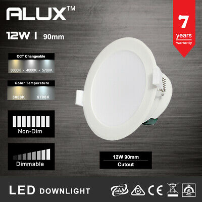 12W Ip44 Non-Dim/Dim Led Downlight Kit 90Mm Cutout Cct Change Wram,Neutral,Cool