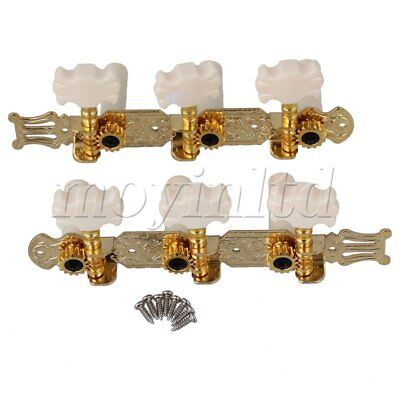 2x Classical Acoustic Guitar String Tuning Pegs Machine Heads Plastic Button Top