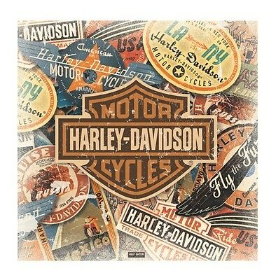 (LAMINATED) Harley Davidson POSTER (40x40cm) Travel New Licensed Art
