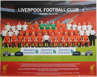 (LAMINATED) LIVERPOOL FC 2012/13 POSTER (40x50cm)  NEW LICENSED ART