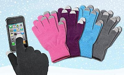 6 Pack Touch Screen Gloves for Smartphones Assorted Magic Stretch Gloves Unisex