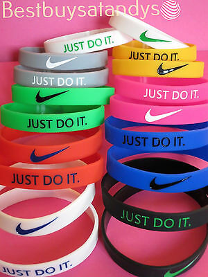 3D NIKE JUST DO IT SWOOSH Logo Silicone Wristband Bracelet Baller NBA Jordan