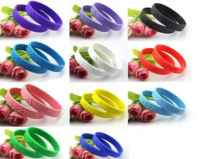 Adidas 3D Silicone Sports Wristbands Bracelets Baller Bands