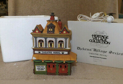 """Dept 56 """"Theatre Royal"""" Dickens Village Series Theater"""