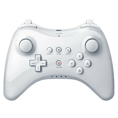 White Wireless Bluetooth Pro Dual Analog Joystick Game Pad Controller for Wii U