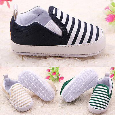 Pleasing Funky Toddler Baby Boy Shoes Crib Shoes Sole Striped Shoes 0-18 Month