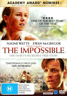The Impossible - Naomi Watts DVD R4 New!