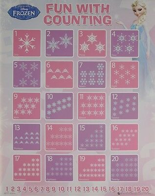 (LAMINATED) Frozen Counting Chart POSTER (40x50cm) Disney New Licensed Art