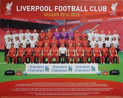 (LAMINATED) LIVERPOOL FC 2014-2015 POSTER (40x50cm) FOOTBALL NEW LICENSED ART