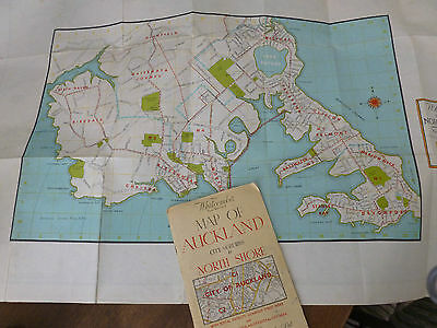 Vintage Whitcombe's Map of Auckland - Guide Book & Fold Out Map - 1950's era