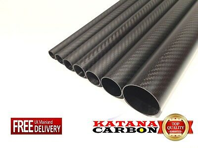 1 x 3k Carbon Fiber Tube OD 24mm x ID 22mm x 1000mm (1 m) (Roll Wrapped) Fibre