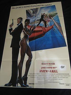 A VIEW TO A KILL original CLASSIC INTERNATIONAL poster JAMES BOND 007