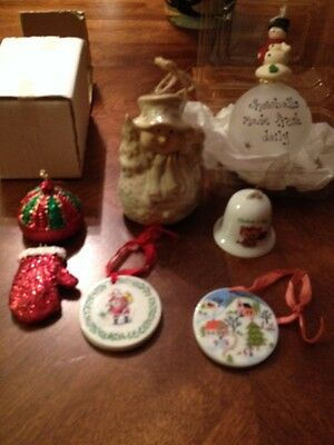 Vintage Christmas Ornaments And Bell Lot Unique